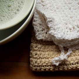 Cotton dish cloths. Everyone needs a pile of these! Gorgeous, made from cotton. Crocheted. Zero waste, compostable, awesome.