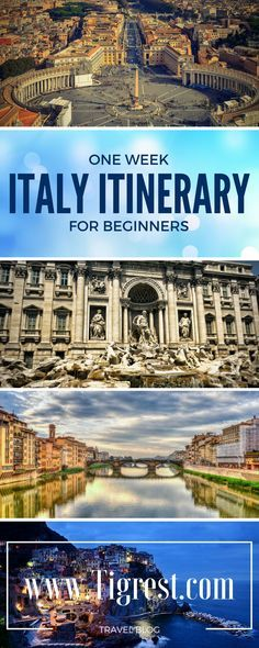 Perfect one week Italy itinerary for your first time in Italy - Rome, Pompeii, Florence, Cinque Terre, Milan and Bergamo