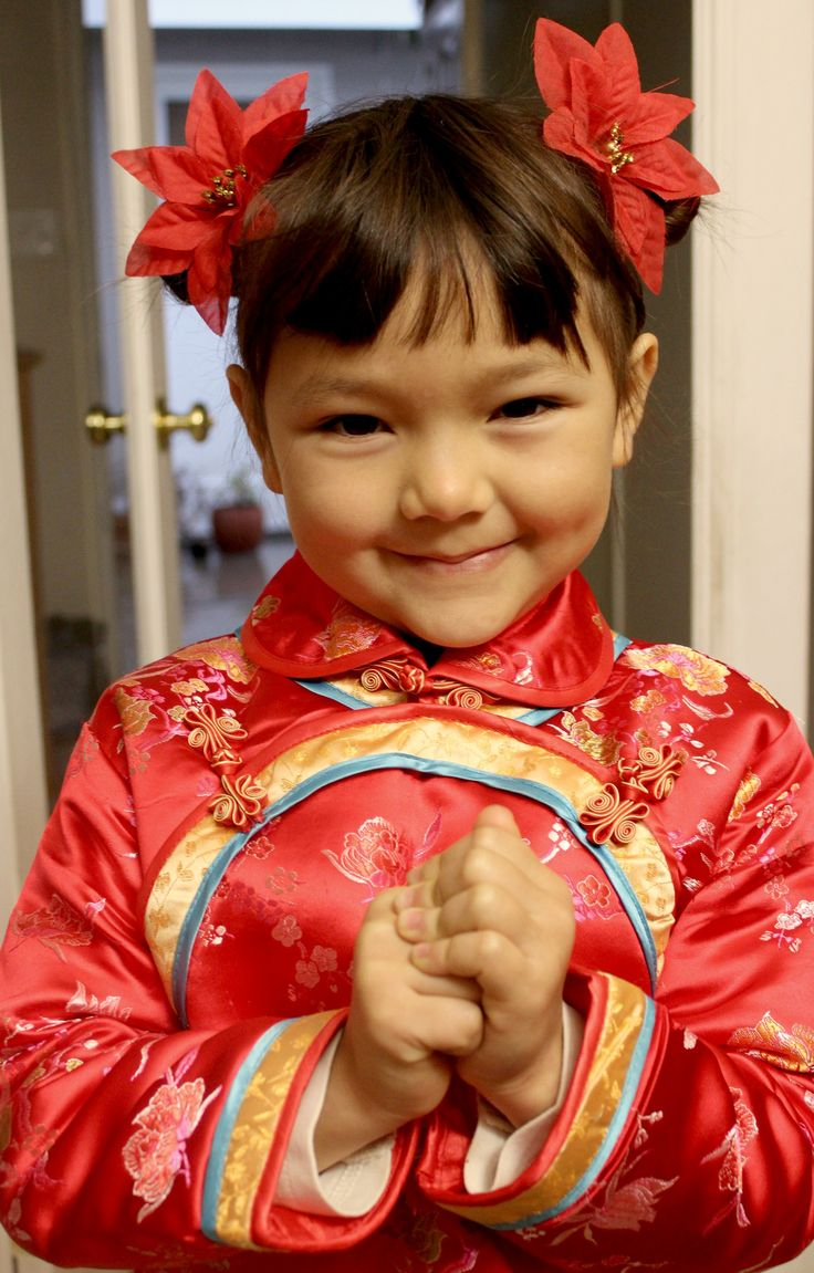 Traditional Chinese Children's Hairstyle Two Buns on the