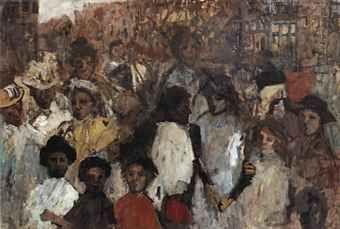 George Hendrik Breitner, Meisjes op de Rozengracht te Amsterdam: Girls on the Rozengracht, Amsterdam
