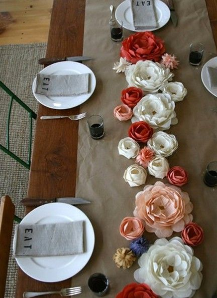 Paper centerpieces for tables loris decoration donu0027t miss our fun tablescapes and home decor ideas at creativehomedecorations paper flower mightylinksfo
