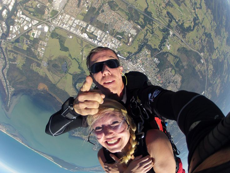Our fun team of highly qualified instructors will ensure your skydiving experience is amazing from start to finish. #SkydiveAustralia #tandemskydiving #skydive #adrenaline