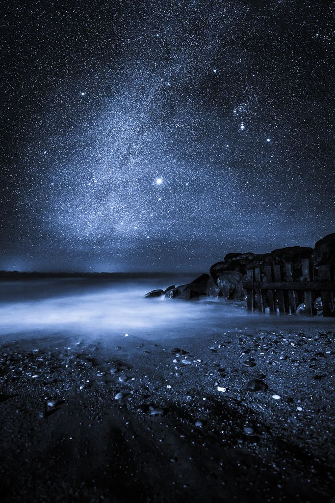 "Midnight Blue - Steephill Cove, Isle of Wight, England. ""There's a starman waiting in the sky He'd like to come and meet us But he thinks he'd blow our minds."" [Starman - David Bowie]"