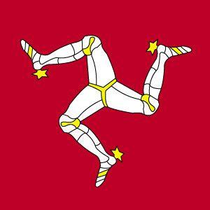 Isle of Man Flag - Triskelion, '3 legs of Mann'