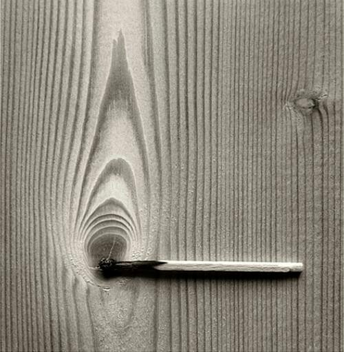 "Chema Madoz is not an optical illusionist at all. You always see the real world objects in his photos. However, he is kind of a non-conventional and surrealist ""visual"" narrator trying to create new conceptual relations between two different objects."