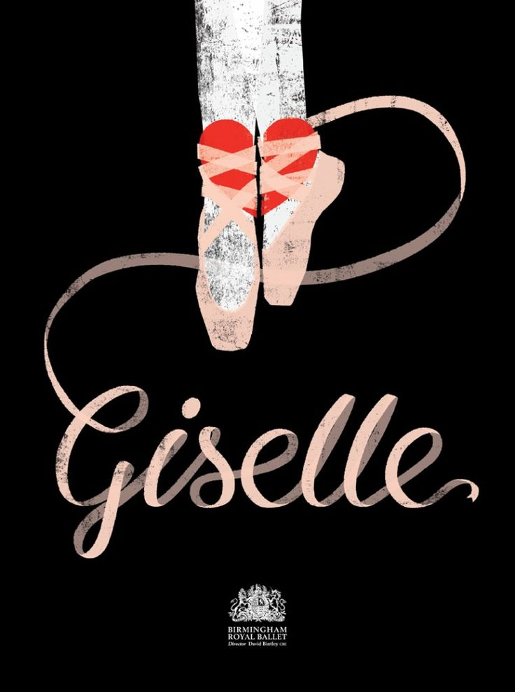Giselle artwork by the Project Twins. Created for Pointe Blank 4, a project run by Birmingham Royal Ballet in Association with Illustrators iIreland