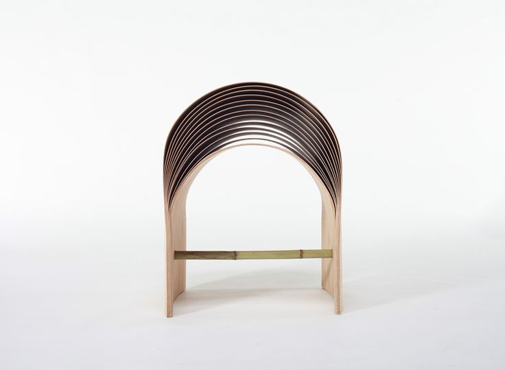 Hangzhou Bent Bamboo Stool By Min Chen. Schwimmende PlattformStuhl Design MöbeldesignProduktdesignHockerHangzhouChenIndustriedesignMöbel
