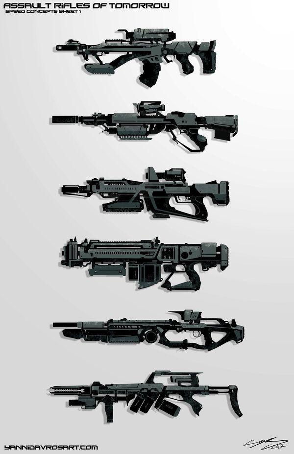 Futuristic Assault Rifles | Speedpaint Future Assault Rifles by *ProlificPen on deviantART