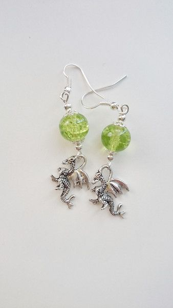 #dragons #earrings #green #forwomen #summer #holiday #carnaval Kolczyki+smok+w+barbarella+na+DaWanda.com