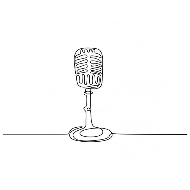 Desenho De Linha Microfone Com Fio Ilustracao Vetorial Design Minimalista Discurso Contorno Tecnologia Imagem Png E Vetor Para Download Gratuito Line Art Drawings Minimalist Icons Microphone Drawing