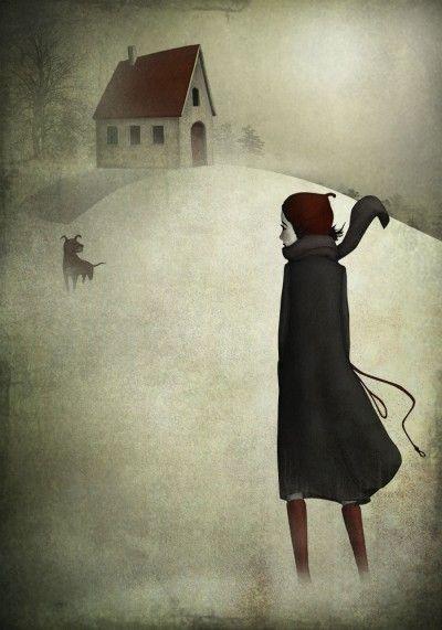 Vinterpromenad - Illustration