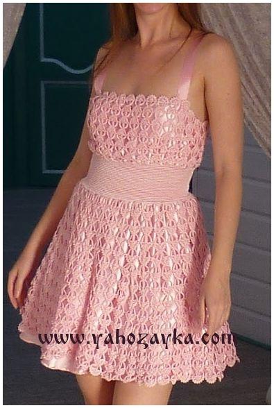 """Платье """"Перо ангела"""" крючком. Красивое платье для женщин крючком"""