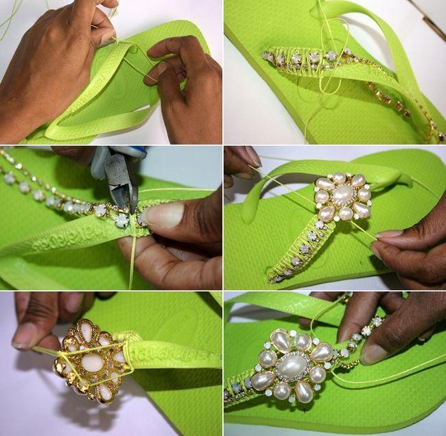 172 best images about chanaclas on Pinterest | Bridal flip flops ...