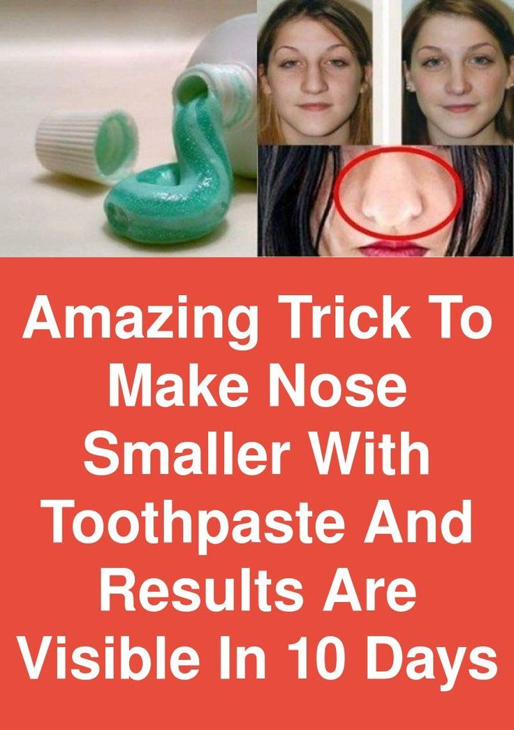 Amazing trick to make nose smaller with toothpaste and