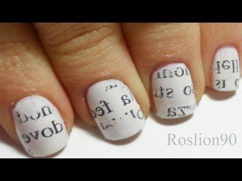 (Italian only) Nail art con giornale... bellissima non vedo l'ora di provarla!