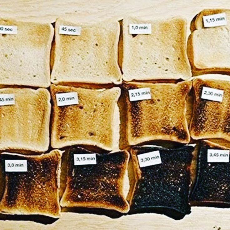 The stages of toast