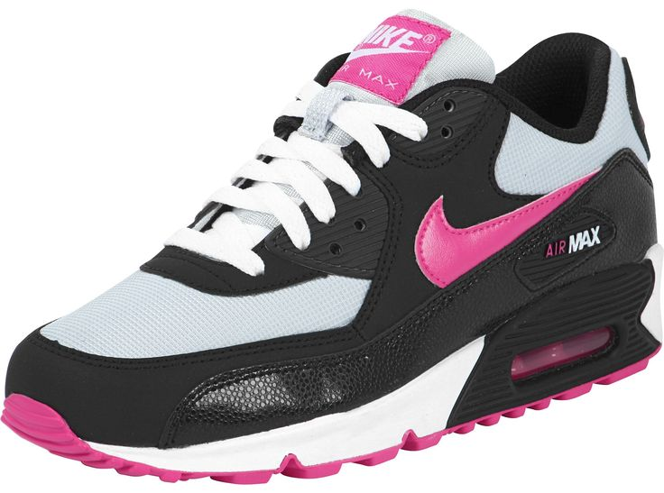 nike+air+max | Nike Air Max 90 Youth GS shoes black pink grey