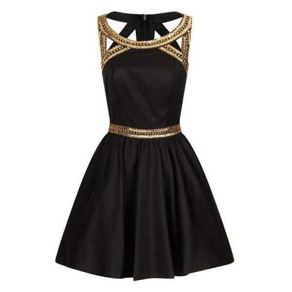 Chi Chi London Gold sequinned party dress ❤ liked on Polyvore featuring dresses, gold dress, night out dresses, yellow gold dress, sequin party dresses and going out dresses