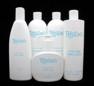 When on the HCG Diet you must be careful of what hygiene products to use. This kit has HCG shampoo, conditioner, body wash, lotion, and hand soap! http://www.hcgperfectportions.com/