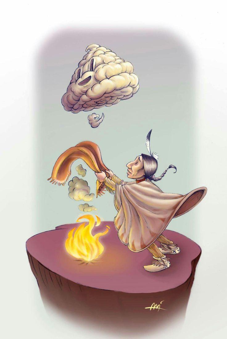 Smoke emoji by Ali del Rey Ilustra #alidelreyilustra #smokeemoji