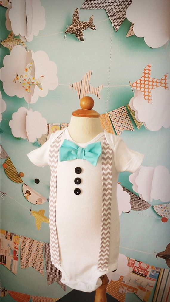 Baby boy chevron suspenders  Any color bowtie.  by LittleGrayandCo: