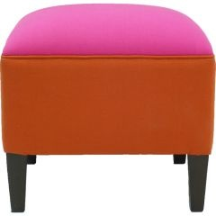 Paprika and Lime hot pink & orange ottoman