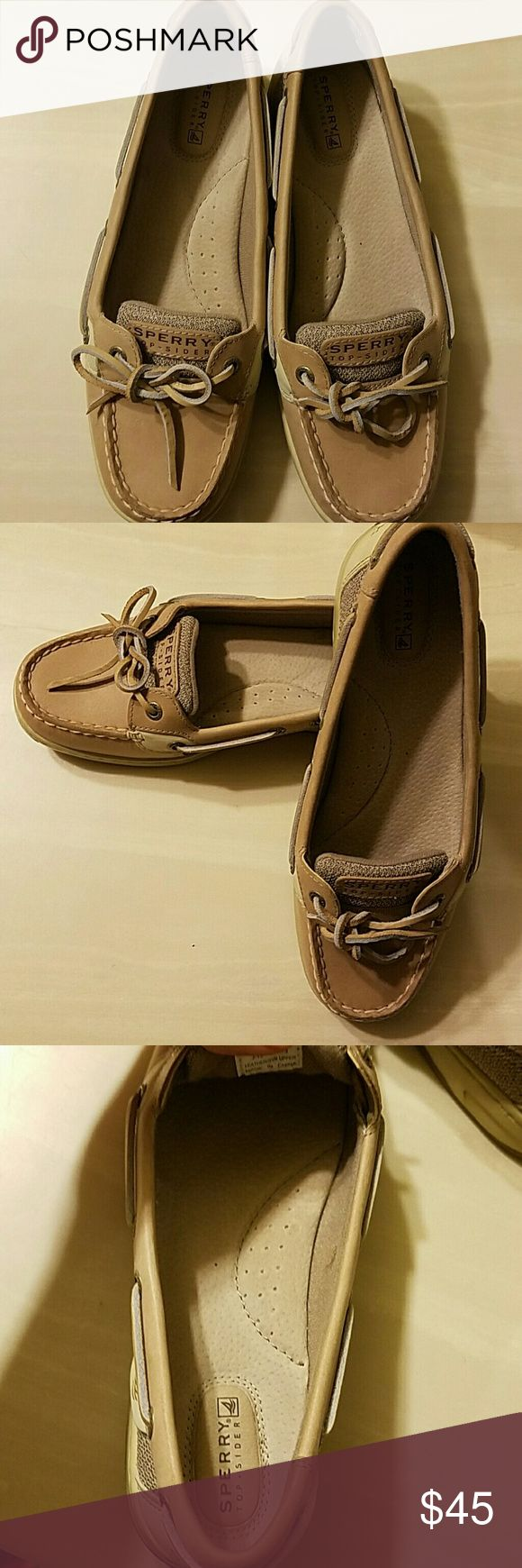 Angelfish sperry top-sider Shoes are like new. I bought them and only wore them once. They aren't really my style. I wore them with socks Sperry Top-Sider Shoes Flats & Loafers