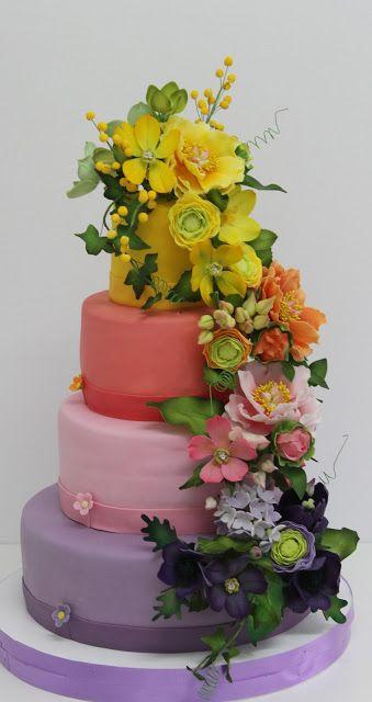 Torturi - Viorica's cakes: Torturi aniversare cu flori