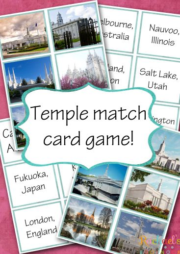 Primary 7 Lesson 8: Jesus Christ Cleanses the Temple - Rachael's BookNook   Free downloads and Temple Match Card Game