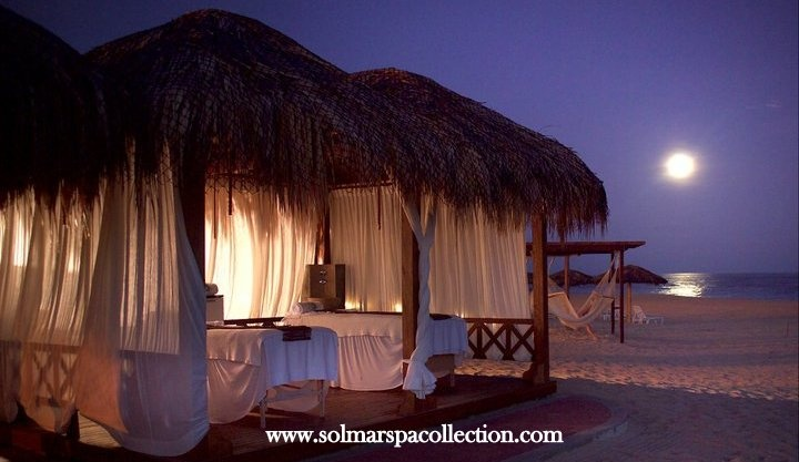Enjoy your selection of 50 minutes massage with your friend or loved one by the beach area under a spa cabana. You will also receive a bottle of champagne with chocolate covered strawberries. Memorable experience by the Pacific Ocean.   http://solmarspacollection.com/store/spa-cabanas-massage/113-moonlight-massage.html