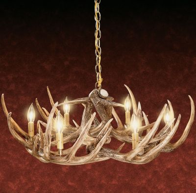 Cabela's Nine-Antler Reproduction Whitetail Chandelier