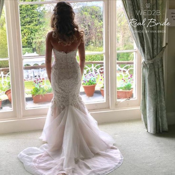 Stunning real bride Amy looks amazing in 'Gracie' by Viva Bride❤️Please share your photos info@wed2b.co.uk❤️www.wed2b.co.uk/wedding-dresses/viva_bride