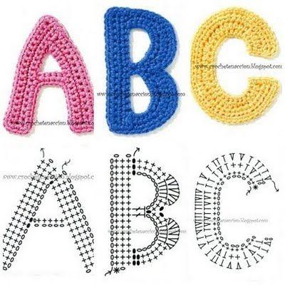 Het hele alfabet gehaakt op deze site