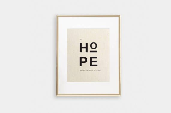 This Hope We Have Is An Anchor For The Soul  Hebrews 6:19