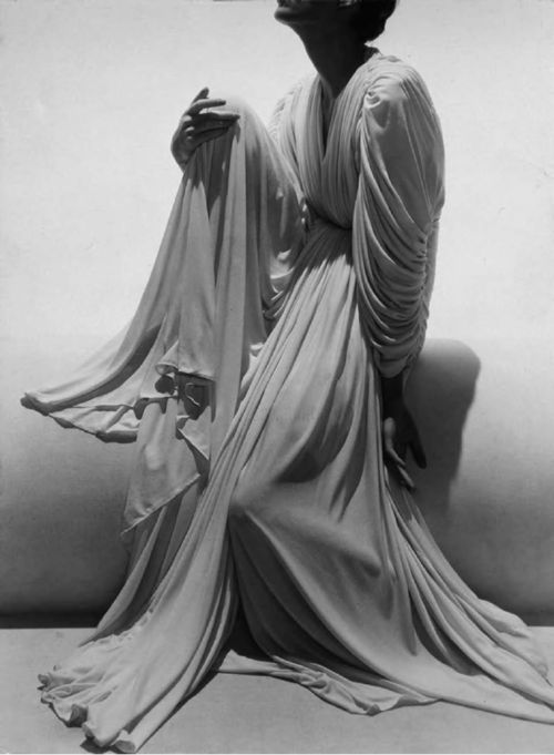 Madame Grès by George Hoyningen-Huene, 1936, wedding ensemble.