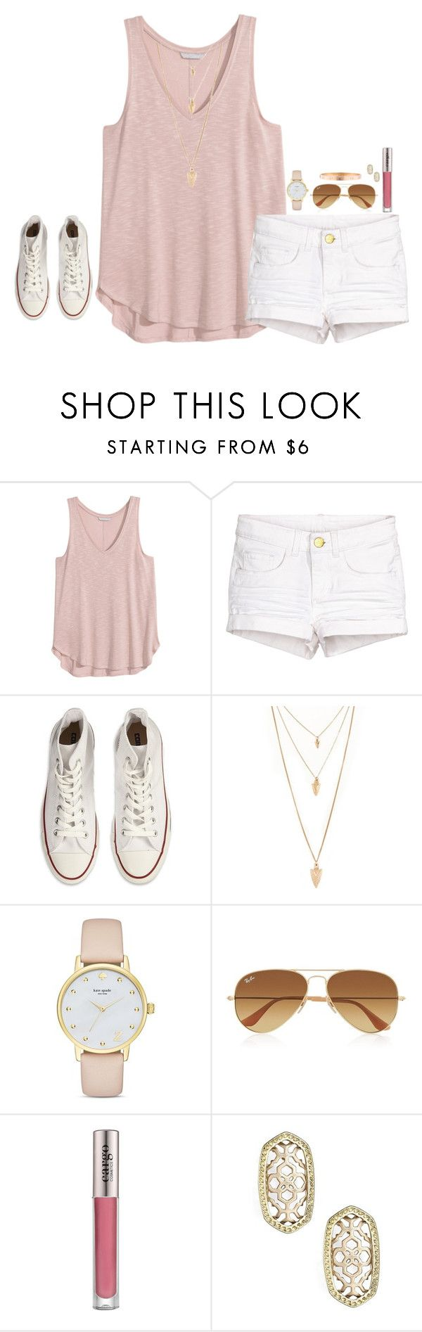 """""""Untitled #458"""" by jazmintorres1 ❤ liked on Polyvore featuring Converse, Forever 21, Kate Spade, Ray-Ban, CARGO, Kendra Scott and Cartier"""