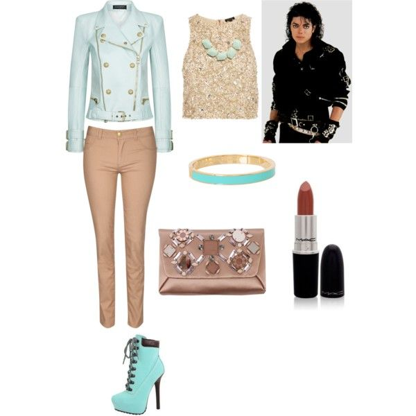 Michael Jackson Inspired by mafedia on Polyvore featuring moda, River Island, Balmain, Jane Norman, Lanvin, Kate Spade, Warehouse and…