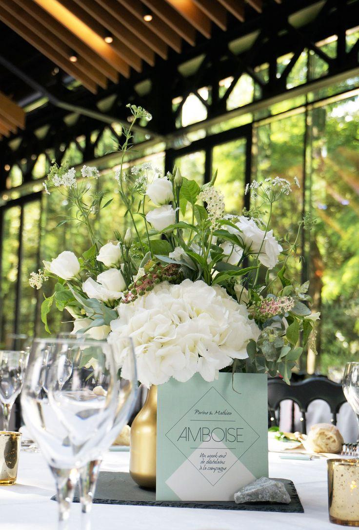 Mariage Vegetal & Mineral- Design Dessine-moi une etoile - Fleurs Aude Rose - Centre de table