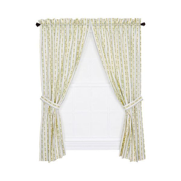 Ellis Curtain Cynthia Blue Floral Stripe 63 x 68-Inch Tailored Curtain... ($34) ❤ liked on Polyvore featuring home, home decor, window treatments, curtains, striped curtains, floral pattern curtains, blue curtains, stripe curtain panel and blue stripe curtains