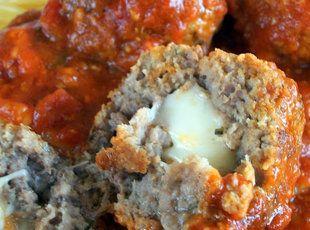 Recipe: Mozzarella Stuffed Meatballs
