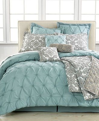 Jasmine Blue 10 Piece Queen Comforter Set - Macys