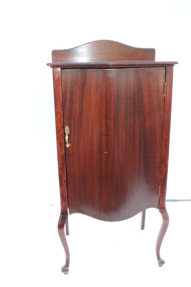 Lovely English Hepplewhite Mahogany Sheet Music Filing Display Cabinet, c. 1920 #Hepplewhite