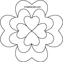 heart shamrocks design  valentines day coloring page coloring pages shamrock flower