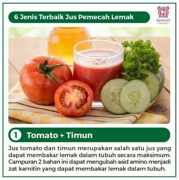 Jus Pemecah Lemak Tomat Timun Resep Diet Sehat Diet Detoks Obat Alami