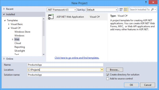 Getting Started with Web API 2 (C#) : The Official Microsoft ASP.NET Site