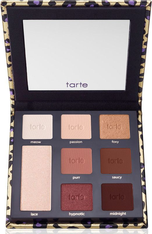 Tarte Maneater Eyeshadow Palette is a limited-edition eyeshadow palette with seven sexy, warm tone shadows plus an eye & cheek highlighter.