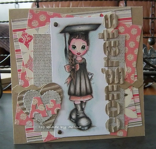 I really love this gals work! She uses Kraft cardstock as the base of all her cards. adds patterned paer and a colored focal and makes the most amazing creations!!!!