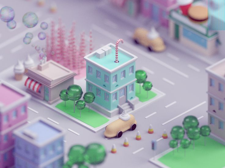Candy city by Mohamed Chahin #Design Popular #Dribbble #shots