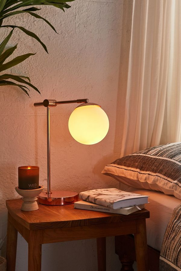 Globe Table Lamp | Office | Bedroom lamps, Table lamp, Desk lamp