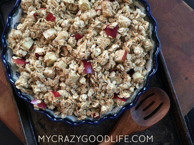 This baked apple cinnamon oatmeal is one of my favorite recipes, and reminds me of home. You're going to love it.